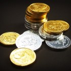 Tower Rate Coin Economy Cash Gold Isolated